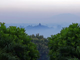 Borobudur at dawn, from Amanjiwo