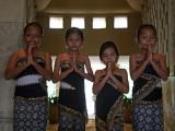 Javanese flower girls at Amanjiwo