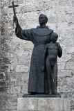 Homoerotic statue (Junipero Serra and native boy)