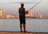 Sunrise fishing on the Malecon