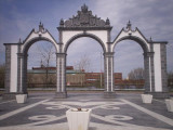 The Sister City Arches, an exact replica of the Gates of Ponta Delgada, which is in our sister city, Ponta Delgada, Azores.