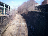 The railroad that runs by my house.