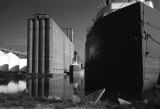 Grain Elevators and Freighters, Superior, WI