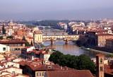 Postcard Like View Towards Ponte Vecchio Bridge