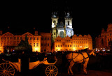 Tyn Church at Old Town Square at Night