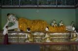Reclining Buddha image, Shwedagon Pagoda, Yangon