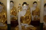 Buddha images, Shwedagon
