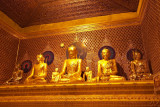 Buddha images in the night