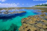 Piscinas naturais na praia de Taipús de Fora, Península de Maraú