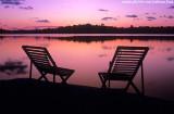 Lagoa do Cassenge no crepúsculo
