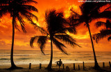 Observando nascer do sol na Península de Maraú