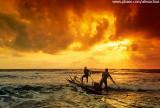 Saída de jangada para o mar, Península de Maraú