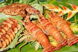 Lagosta, camarão e pargo assado_3936