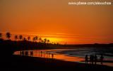 Pôr-do-sol na praia do cumbuco