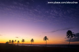 crepúsculo na praia do cumbuco
