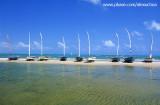 Barcos na praia de Mundau, Trairi, CE 2