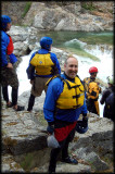 Alan poses a big smile before heading back to the raft.