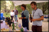 Pete and Laurence lead the wine tasting