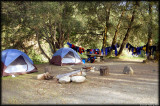Campground and our gear on the water