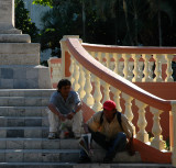 On the stairs - Mérida