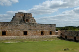 Nunnery Quadrangle and the Pyramide - Uxmal