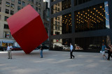 Cube at the financial district