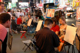 Making a portrait - Times Square