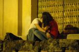 Kiss at the Mezquita door