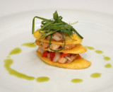 Ceviche Napoleans with Plantains