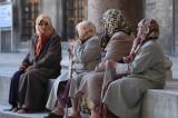 Muslim Women at Blue Mosque