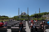 Benches & Blue Mosque