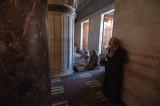 prayer inside Blue Mosque
