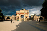 Stormy skies above the Louvre