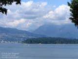 Stanley Park and Vancouver's North Shore mountains