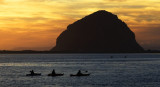 Morro Rock at Sunset