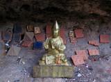Statue in cave