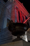 MFA, urn with red glow