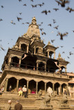 Patan Durbar Square, flight of the pigeons