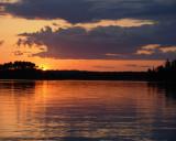 SUNSET ON MAYNARD LAKE, CANADA