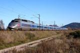 A TGV Sud-Est near Les Arcs-Draguignan.