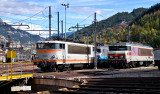 Les BB25172 et CC6561 au dépôt de Modane.