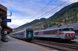 La CC6561 en gare de Modane.