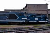 Quelques BB67300 au dépôt de Chambery.