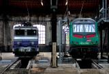 Les BB22313 et BB36349 au dépôt de Chambéry.