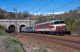 La CC6549 au tunnel de Saint-Martin, près de Saint-Jean de Maurienne.