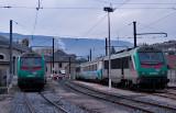 Les BB36348 et 36349 au dépôt de Chambéry.