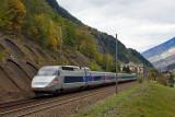 Un TGV Réseau Paris-Milan au Freney.