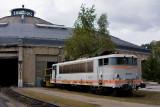 Le début de la fin pour la BB25175, au dépôt de Chambéry.