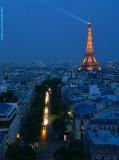 Night falls on Paris