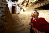 Nuns in their high mountain home.